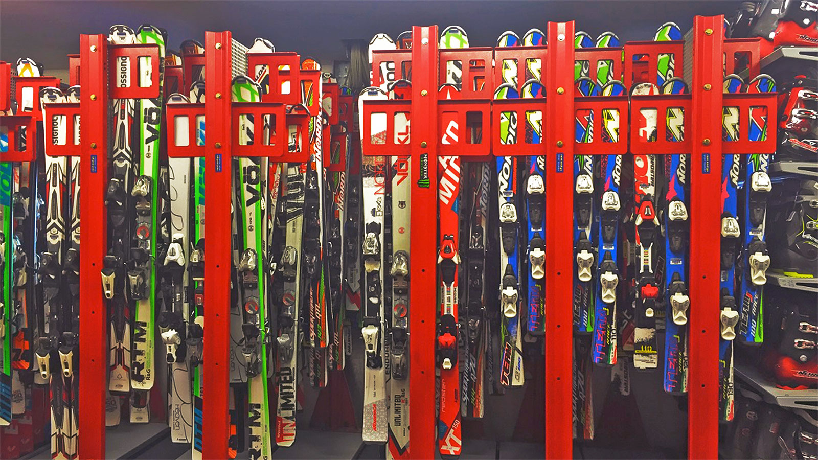 Hire everything from children's skis to the latest high-performance equipment